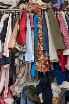 Aug 31, 2020 - 7 Steps to Control Clothes Clutter in a Small Space - closet organization tips