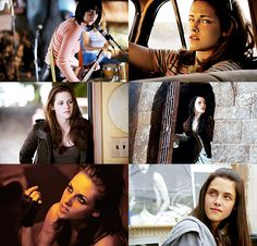 "Kristen Stewart.....stills from her movies. ""the Runaways"", ""On The Road"", ""New Moon"", ""Snow White and the Huntsman"", ""Welcome to the Rileys"", and ""The Cake Eaters""."