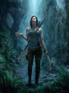 reBORN, Tomb Raider fan art by Michael K. Matsumoto.