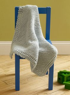 Loom Knit Diagonal Baby Throw Pattern