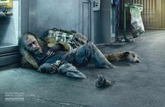 Asile is a photo retouching and studio based in Paris, France founded by Photoshop Artist, Christophe Huet. Their CGI and creative photo retouching work is some of the best that you will. Homeless People, Homeless Man, Homeless Veterans, Social Campaign, Advertising Campaign, Photomontage, Modeleur 3d, Labo Photo, Asile