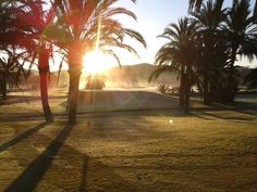 Second best place in the world - a golf course at dawn.   - La Manga, Spain.