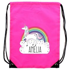 Personalised Pink Kit Bag - Unicorn