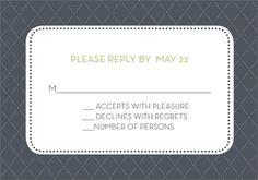 Initials Monogram Grey Response Cards