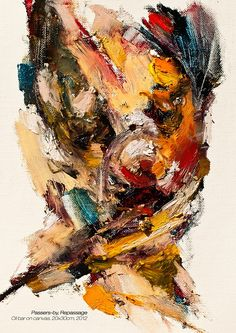 """Saatchi Art is pleased to offer the painting, """"Passersby, Repassage,"""" by Jaeyeol Han. Original Painting: oilbar on Canvas. Size is 0 H x 0 W x 0 in. Abstract Portrait Painting, Painting & Drawing, Abstract Art, Art Academy, Traditional Art, Abstract Expressionism, Original Paintings, Face Paintings, Cool Art"""