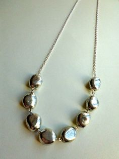 silver stone necklace $14.00