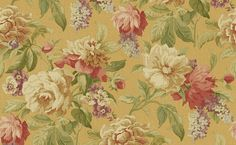 Raymond Waites SBK16503 Great Escapes - Sandpiper Floral Texture-Painted Effect Wallpaper in Reds, Greens, and Yellow by Raymond Waites from Great Escapes Collection by Seabrook Wallcoverings.      Features: Vinyl Coated - Washable - Strippable - Unpasted     Match Type: Straight     Pattern Repeat: 36 in. Also avail. at BurkeDecor.com