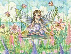 fairy art by molly harrison illustrations postcard