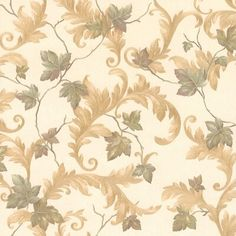 Brewster Home Fashions Kitchen, Bed And Bath Resource IV Alessia Leaf x Botanical Wallpaper Color: Beige Wallpaper Samples, Wallpaper Roll, Cool Wallpaper, Brewster Wallpaper, Botanical Wallpaper, Prepasted Wallpaper, Wallpaper Calculator, Kitchen Wallpaper, Cool Walls