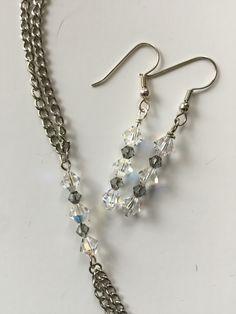 Swarovski crystal earrings and bracelet for the bridesmaids.