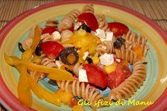 Insalata di pasta integrale ai colori dell'estate