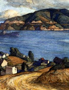 Francis Todhunter (1884-1963), View Across the Bay (detail). Watercolor on paper