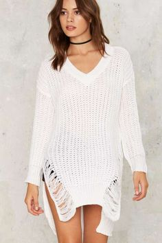 Say Yes to the Distress Sweater - Fall Essentials