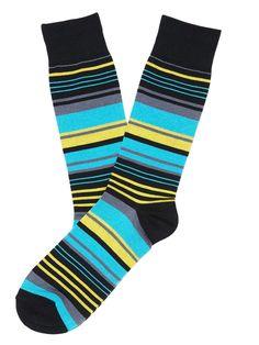 #FashionVault #perry ellis #Men #Accessories - Check this : Perry Ellis Tencel East Stripe Sock for $9 USD
