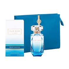 The wonderful Elie Saab Resort Collection now with a beautiful blue pouch as your gift with purchase. Limited stock available.