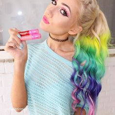 Rainbow Hair and Jeffree Star Lipsticks