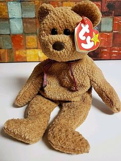 TY Beanie Baby - SEQUOIA the Brown Bear (5 inch) - MWMTs Stuffed Animal Toy  8421045167  e30934ba3158