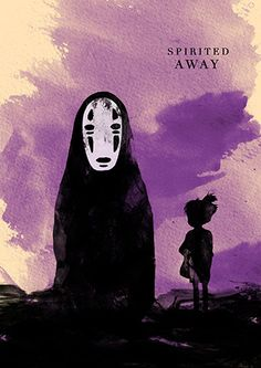 Spirited Away Hayao Miyazaki Minimalist Movie Poster by moonposter