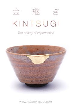"""Kintsugi in Japanese literally means """"fixing with gold"""" and it represents the beauty of imperfections. Kintsugi is the idea of embracing the flaws and imperfections of something that was once broken to get an even stronger and more precious piece of art. Kintsugi represents the strength and effort behind every single scar and the ability to recover from a trauma into a new form that is even stronger and more precious than before. Find more about Kintsugi on RealKintsugi #Kintsugi #gold Antique Pottery, Kintsugi, Japanese Pottery, Trauma, Effort, Restoration, Im Not Perfect, Art Pieces, Strength"""