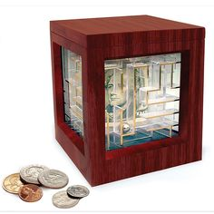 Money Maze Puzzle Bank -- this will get 'em!