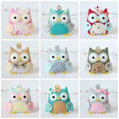 Barbara Handmade felt owls. Inspiration only