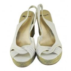 Monsoon fabric wedges with cross over front & rope heels 3 colours