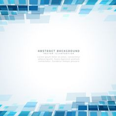blue square mosiac background Free Vector
