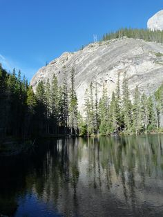 Quiet reflections at Grassi Lakes near Canmore, Alberta