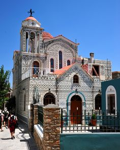 Greek Orthodox Church in Pyrgi, Chios Island, Greece Beautiful Islands, Beautiful Places, Chios Greece, Greece Pictures, Greek Beauty, Ancient Greek Architecture, Kingdom Of Great Britain, Greece Islands, Place Of Worship