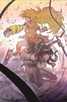 I'm going to be cosplaying Yang and my friend is going to be Blake. Then her friend is going to be Sun.