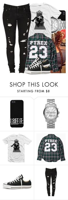 """""""20 May, 2014"""" by jamilah-rochon ❤ liked on Polyvore featuring Michael Kors, Pyrex, Converse and Levi's"""
