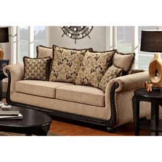 Chelsea Home Delray Taupe Lily Sofa Multicolor 6000 S DT on PopScreen