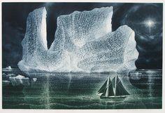 "lilacsinthedooryard: David Blackwood (Canada, b. - lilacsinthedooryard: "" David Blackwood (Canada, b Down on the Labrador Towing the Nickerson etching "" Painting Prints, Painting & Drawing, Paintings, Labrador, Whale Tattoos, Autumn Rain, Thing 1, Virtual Art, Magic Realism"