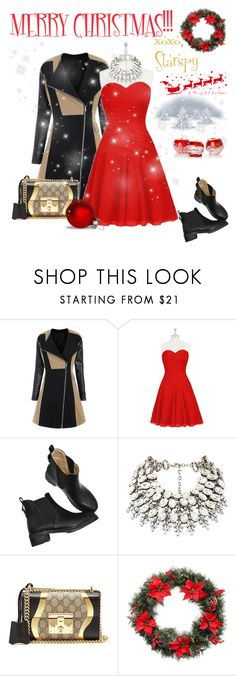 """""""Merry Christmas!!!"""" by starspy ❤ liked on Polyvore featuring Gucci, Martha Stewart, Christmas, holidays and christmas2017"""