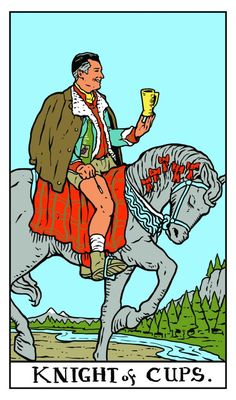 Twin Peaks Tarot. Dick Tremayne como EL CABALLO DE COPAS