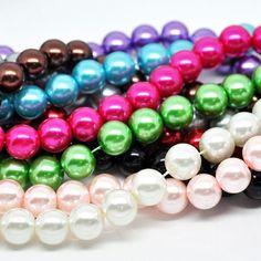 800 Glaswachsperlen 10mm (10 Stränge 82cm) Mix Kugel rund Beads Perlen | Glaswachsperlen | Perlen |  günstig kaufen bei Bacabella.com | Perlen, Schmuck und Schmuckzubehör zum Schmuck selber machen | Schmuck basteln DIY DoItYourself | ganz individuell und einfach | Schmuckperlen
