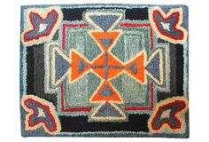 Mounted Geometric Hand-Hooked Rug on OneKingsLane.com