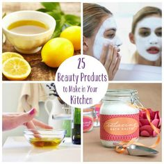 Check out the 25 Beauty Products to Make in Your Kitchen like moisturizer, detangler, makeup remover, and more...
