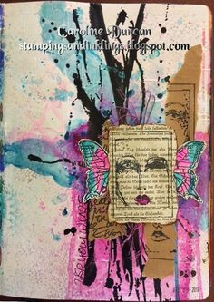 art journal by Caroline Duncan ~ Stampings and Inklings ~ dina wakley media