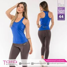 REF:1212 Leggings en color oxford  Blusa Espalda RIP en color rey #ToraTraining #EntrenaConEstilo #Fitness #FitnessFashion