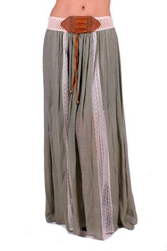 Beautiful bohemian Maxi Skirt! #gypsyoutfitters #skirt #lace