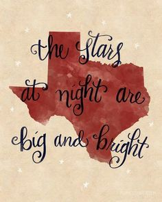 The stars at night are big and bright.!