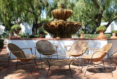 1stdibs.com   Important Clara Porset Wicker and Iron Chair and Table Set, Mexico c.1950's