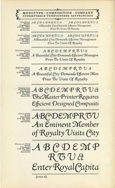 This is a specimen of Fred Goudy's Kennerley Swash typeface.