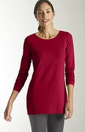 Pure Jill long-sleeve stretch cotton tee, $36