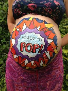 Ready to pop belly Joanne norris...love this ideas. Simple