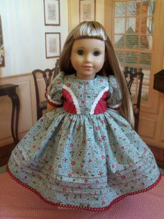 American Girl 1800's Gown / Clothes for Caroline by Farmcookies