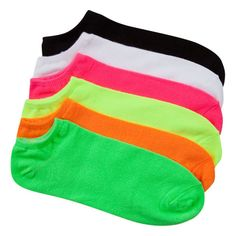 Two words: Neon socks. Cute Socks, Colorful Socks, Designer Socks, Birthday Wishlist, 6 Packs, Neon Colors, What I Wore, Hosiery, Shoe Boots