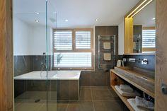 Badezimmer Ski Chalet, Alpine Lodge, Lodges, Bathtub, Bathroom, Apartments, Big Living Rooms, Full Bath, Standing Bath