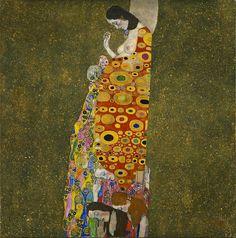 Gustav Klimt (1862–1918), Hoop II, 1907 - 1908, olieverf, goud en platina op doek, 110.5 x 110.5 cm, Museum of Modern Art, New York